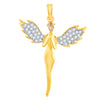 Sukkhi Fancy Gold Plated Cupid Pendant for women