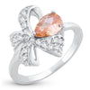 Sukkhi Marquise Bow Rhodium Plated Ring for women