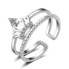 Sukkhi Exotic Crown Australian Diamond Rhodium Plated Ring for Women - 8