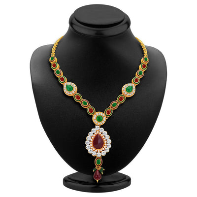 ShoStopper Finely Gold Plated Austrian Diamond Necklace Set-1