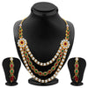 ShoStopper Splendid Gold Plated Austrian Diamond Necklace Set