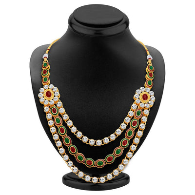 ShoStopper Splendid Gold Plated Austrian Diamond Necklace Set-1
