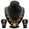 ShoStopper Delightful Peacock Gold Plated Meenakari Necklace Set