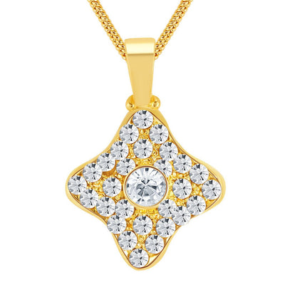 ShoStopper Graceful Gold Plated Austrian Diamond Pendant Set-1