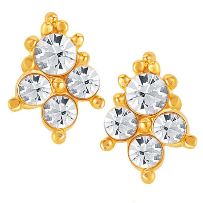 ShoStopper Graceful Gold Plated Austrian Diamond Pendant Set-2