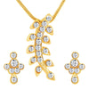 ShoStopper Glimmer Gold Plated Austrian Diamond Pendant Set