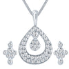 ShoStopper Sublime Rhodium Plated Austrian Diamond Pendant Set