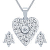 ShoStopper Fascinating Rhodium Plated Austrian Diamond Pendant Set