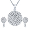 ShoStopper Marvellous Rhodium Plated Austrian Diamond Pendant Set