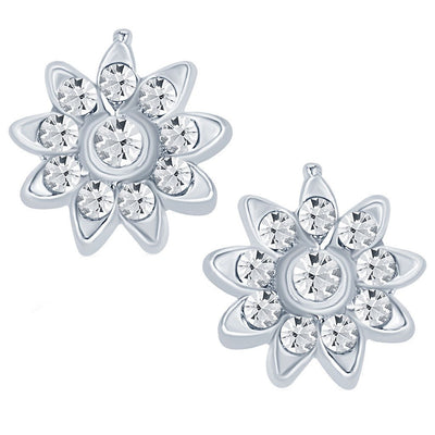 ShoStopper Dazzling Rhodium Plated Austrian Diamond Pendant Set-2