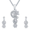 ShoStopper Excellent Rhodium Plated Austrian Diamond Pendant Set