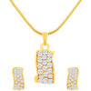 ShoStopper Appealing Gold Plated Australian Diamond Pendant Set SJ4027PSN