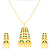 ShoStopper Fashion Jewelery Gold Plated Meenakari Pendant Set