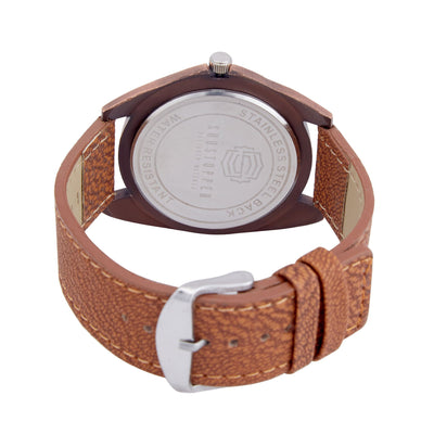 Shostopper Attractive Brown Dial Analogue Watch For Men - SJ60030WM-3