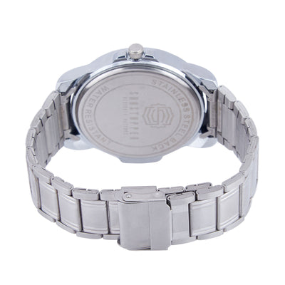 Shostopper Mirror Metallic White Dial Analogue Watch For Men - SJ60035WM-3