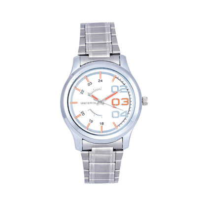 Shostopper White Dial Metallic Analogue Watch For Men - SJ60038WM