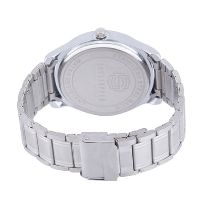 Shostopper White Dial Metallic Analogue Watch For Men - SJ60038WM-3