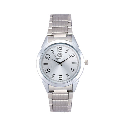 Shostopper Casual Metallic Grey Dial Analogue Watch For Men - SJ60043WM