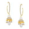 ShoStopper Artistically Gold Plated Austrian Diamond Earring