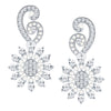 ShoStopper Classy Rhodium Plated Austrian Diamond Earring