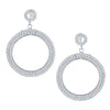 ShoStopper Trendy Rhodium Plated Austrian Diamond Earring