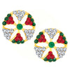 Shostopper Multicolour Glittery Gold Plated Australian Diamond Earring