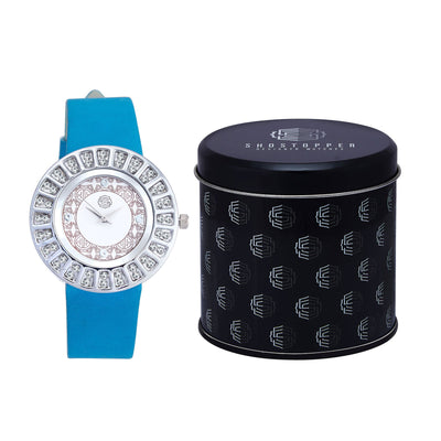 Shostopper Glittery White Dial Analogue Watch For Women - SJ62009WW-1