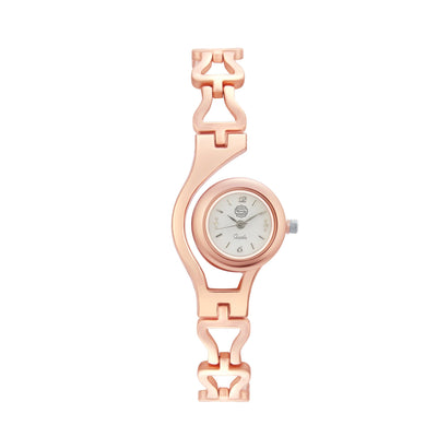 Shostopper Classic White Dial Analogue Watch For Women - SJ62049WW
