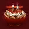 Sukkhi Glorious Gold Plated Kundan Choker Necklace Set for Women