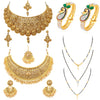 Sukkhi Fascinating LCT Gold Plated Pearl Set of 4 Jewellery Combo for Women