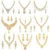 Sukkhi Eye Catching Gold Plated Austrian Diamond Set of 9 Necklace Combo for Women