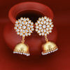 Sukkhi Glamorous Pearl Gold Plated Kundan Jhumki Earring for Women