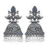 Sukkhi Incredible Oxidised Peacock Jhumki Earring for Women