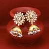 Sukkhi Adorable Gold Plated Kundan & Pearl Jhumki Earring for Women