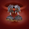 Sukkhi Stylish Oxidised Peacock Jhumki Earring For Women