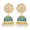 Sukkhi Stunning Pearl Gold Plated Kundan Meenakari Jhumki Earring for Women