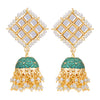 Sukkhi Designer Gold Plated Kundan & Pearl Meenakari Jhumki Earring for Women