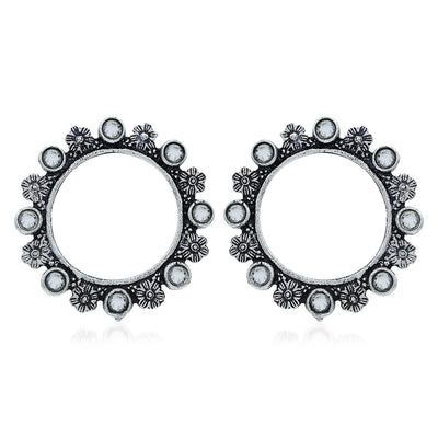 Sukkhi Exotic Oxidised Floral Stud Earring For Women