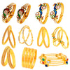 Sukkhi Stunning Gold Plated Meenakari Bangle Set Combo for Women