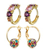 Sukkhi Astonish Gold Plated Crystal Clip-On Earring Combo For Women