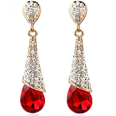 Sukkhi Dazzling Gold Plated Floral Crystal Dangle Earring Combo For Women