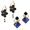 Sukkhi Elegant Gold Plated Floral Dangle Earring Combo For Women