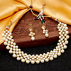Sukkhi Elegant Gold Plated Pearl & Kundan Choker Necklace Set for Women