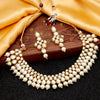 Sukkhi Charming Gold Plated Pearl & Kundan Choker Necklace Set for Women