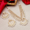 Sukkhi Glorious Gold Plated Pearl & Kundan Multi-String Necklace Set for Women