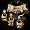Sukkhi Dazzling Gold Plated Pearl & Kundan Choker Necklace Set for Women