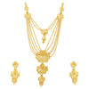 Sukkhi Glimmery 24 Carat Gold Plated Multi-String Necklace Set for Women