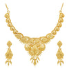 Sukkhi Glimmery 24 Carat Gold Plated Choker Necklace Set for Women