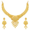 Sukkhi Awesome 24 Carat Gold Plated Choker Necklace Set for Women