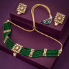 Sukkhi Elegant Gold Plated Green Pearl Necklace Set for Women